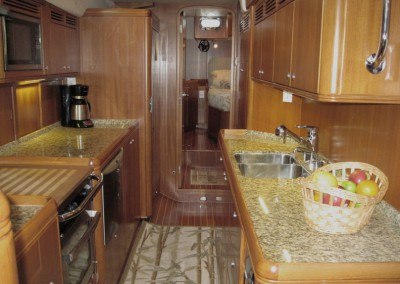 Passport Vista 585TC & 615TC Galley Looking Aft