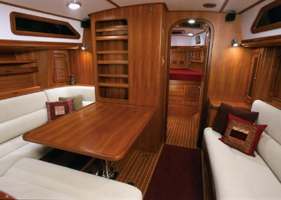Passport Yachts Classic Series Main Cabin & Table with table up