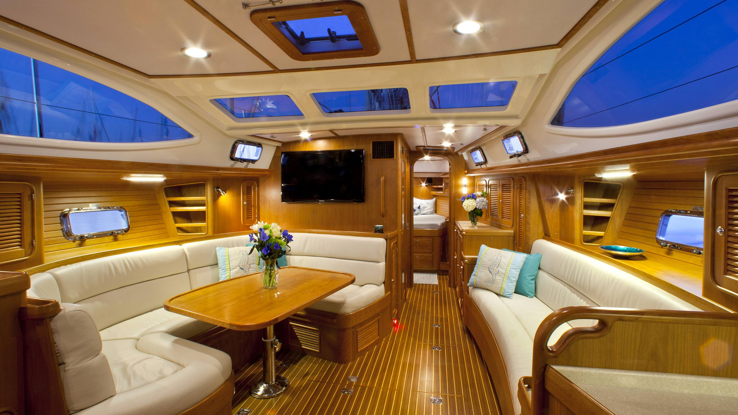 Passport Yachts are as beautiful inside as they are capable outside.