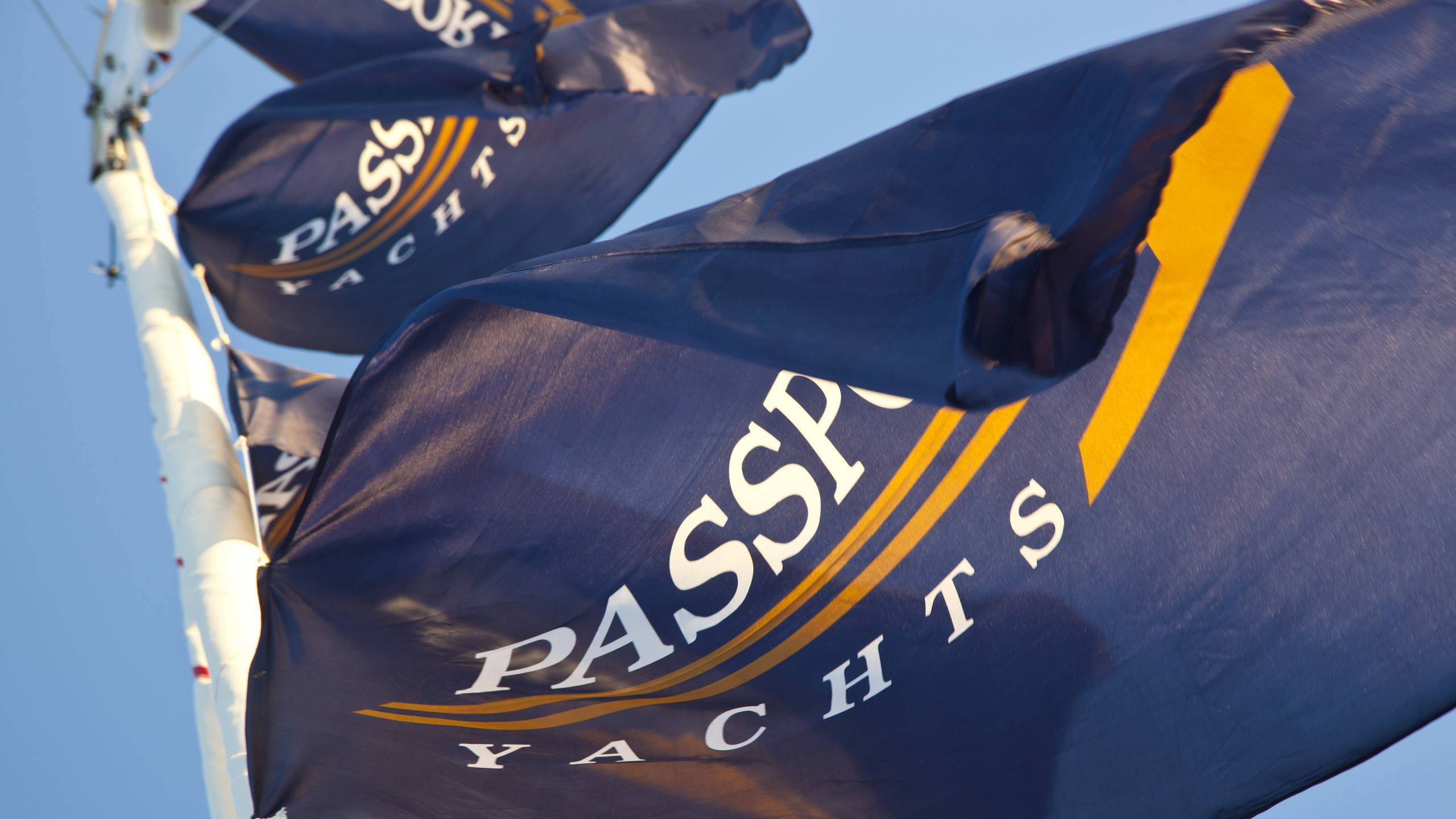 Look for the Passport Yachts flag at an upcoming boat show.
